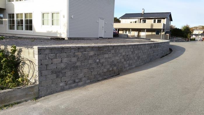 Belegningsstein mur